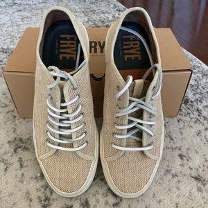 Frye Ludlow Low Tan Sneakers Size 11
